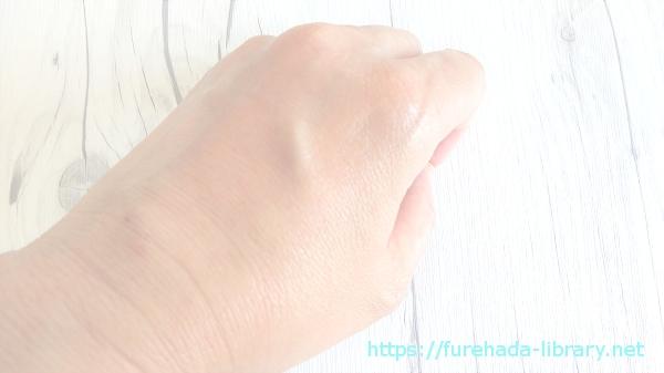 QuSomeモイスチャーリッチクリーム使用後の肌