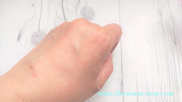 ホワイトジェリー使用後の肌