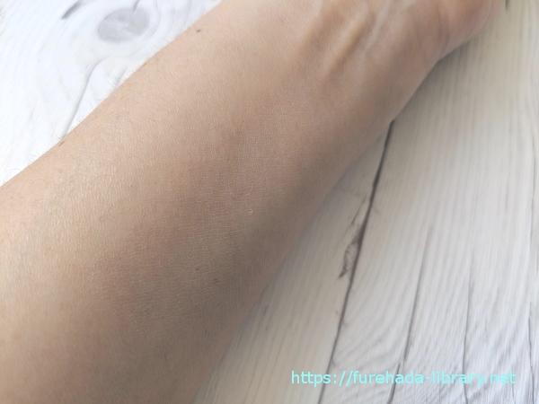 スチームクリーム ジャスミン&イランイラン使用後の肌