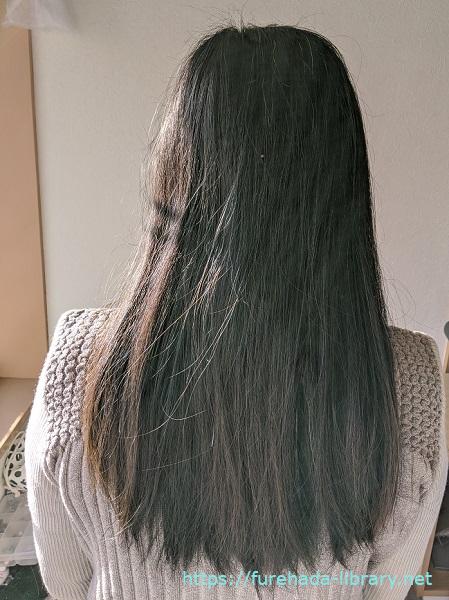 hgum(ハグム)ナチュラルシャンプーを使う前の髪