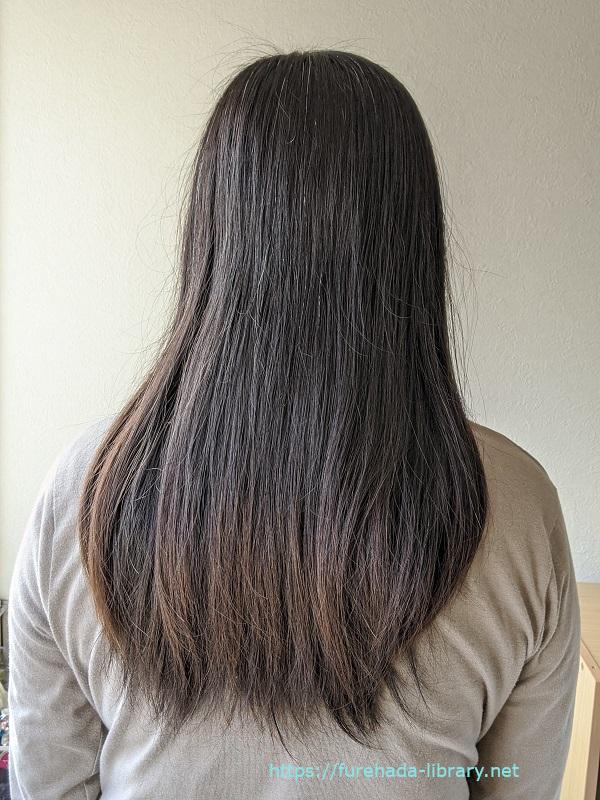 hgum(ハグム)ナチュラルシャンプー使用1日目の髪