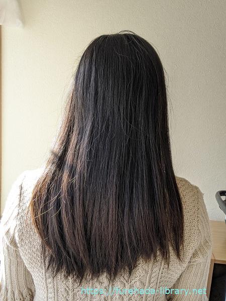 hgum(ハグム)ナチュラルシャンプー使用3日目の髪