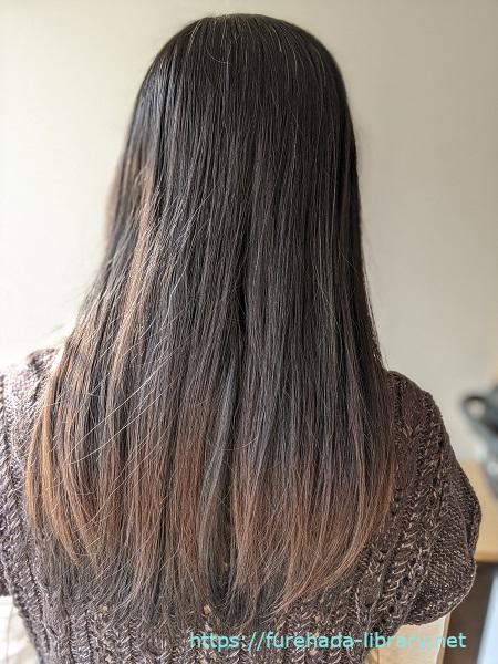 hgum(ハグム)ナチュラルシャンプー使用4日目の髪