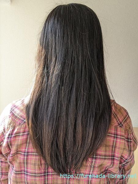 hgum(ハグム)ナチュラルシャンプー使用6日目の髪