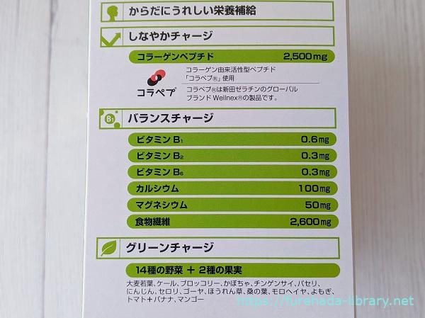 バランスコラーゲン・グリーンスムージー栄養素