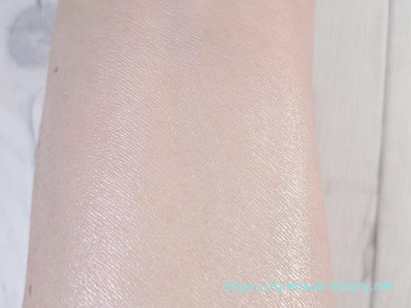 ナチュラグラッセUVプロテクションベースN使用後の肌