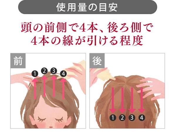 ベルタ育毛剤使用目安量