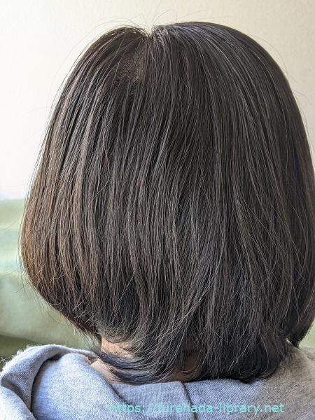 サンカラーマックス使用後の髪