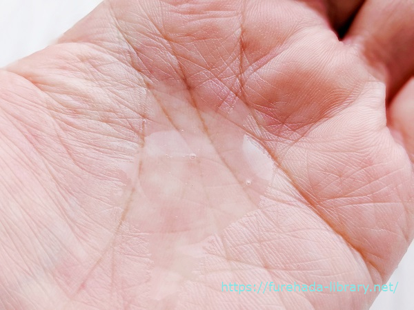 Coyori高保湿温泉化粧水 テクスチャー